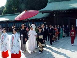 Cérémonie traditionelle de mariage au Japon