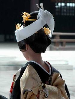 Coiffure de mariée Japonaise