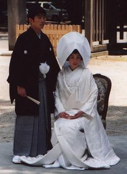 Costume des mariés japonais